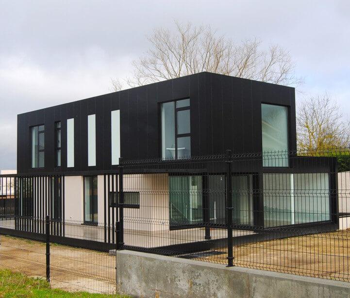 Imagen de la construcción realizada en Louzaneta, Lugo